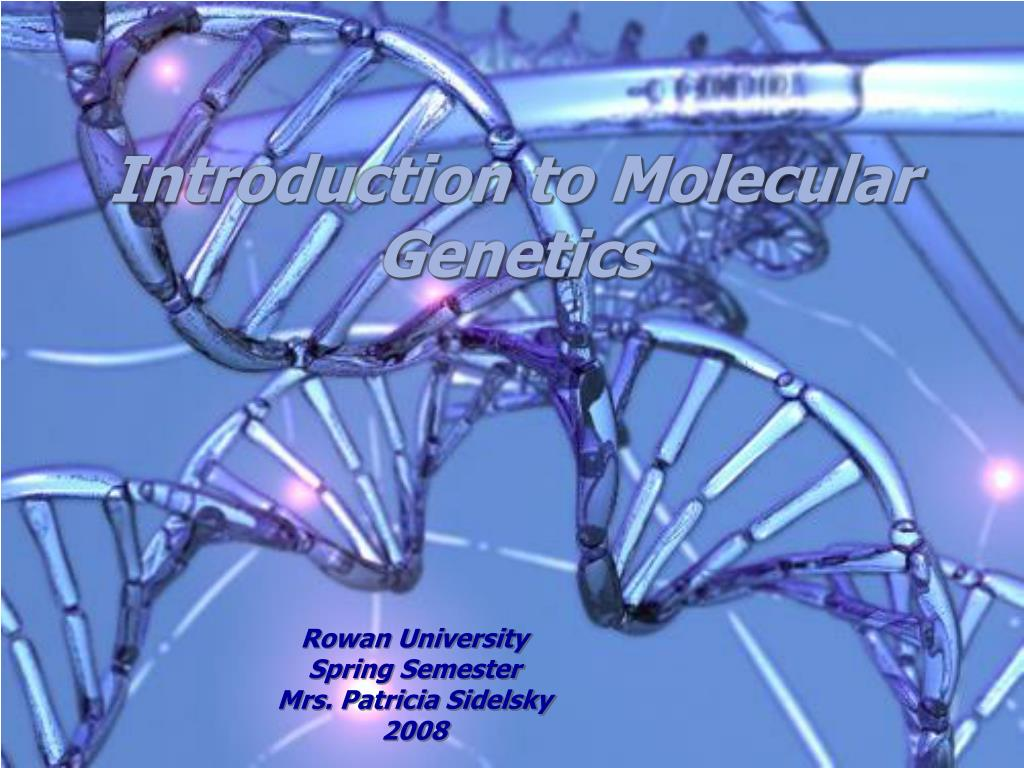 introduction to molecular genetics l.