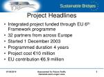 project headlines
