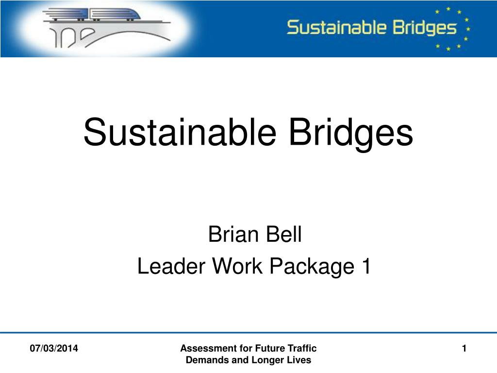 sustainable bridges l.