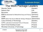 the work package leaders