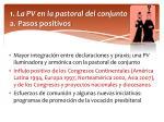 1 la pv en la pastoral del conjunto a pasos positivos