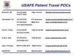 usafe patient travel pocs