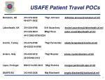 usafe patient travel pocs