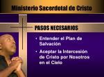 ministerio sacerdotal de cristo