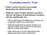 concluding remarks trade