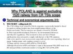 why poland is against excluding 1520 railway from cr tsis scope13