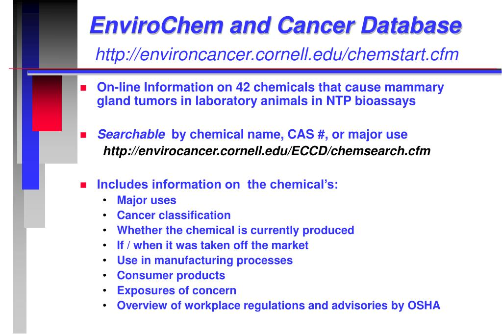 EnviroChem and Cancer Database