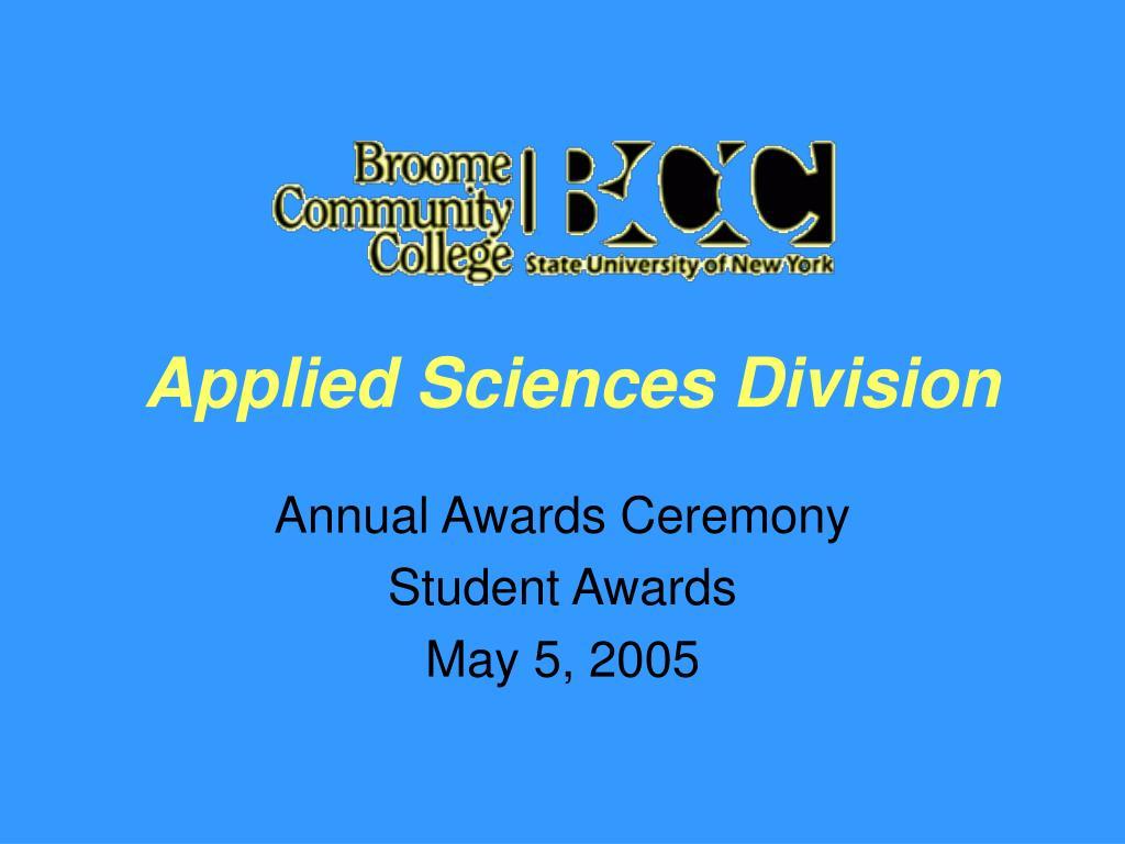 applied sciences division l.