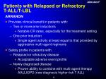patients with relapsed or refractory t all t lbl