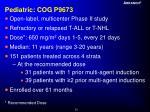 pediatric cog p9673