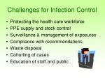 challenges for infection control
