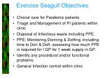 exercise seagull objectives