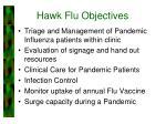 hawk flu objectives