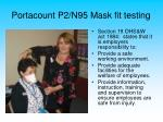 portacount p2 n95 mask fit testing