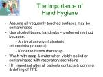the importance of hand hygiene