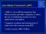 java media framework jmf