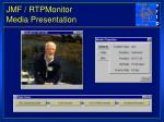 jmf rtpmonitor media presentation