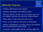 rtpmonitor features