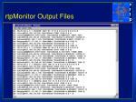 rtpmonitor output files