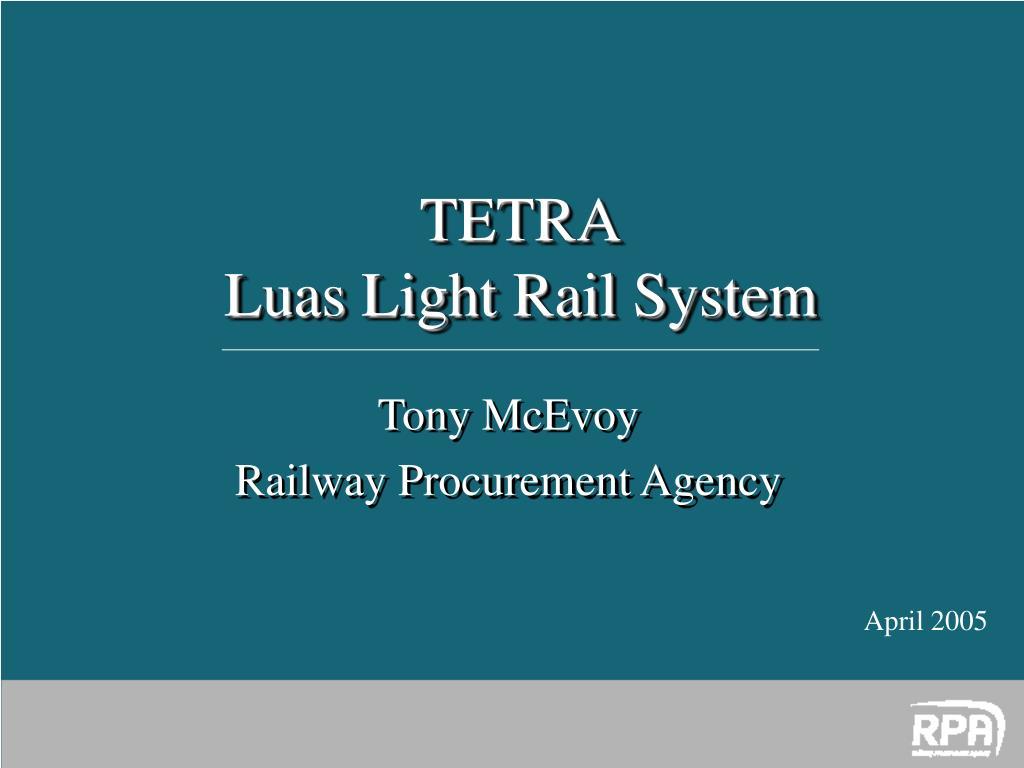 tony mcevoy railway procurement agency l.