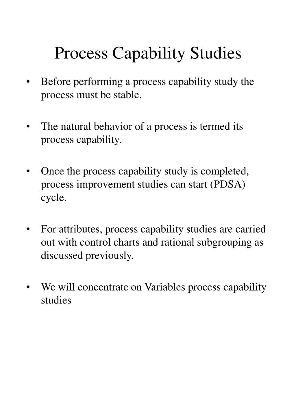 process capability studies l.