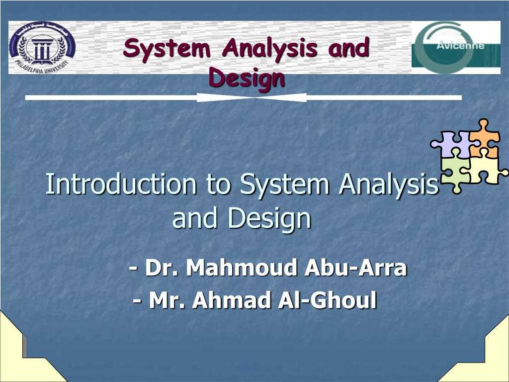 introduction to system analysis and design l.
