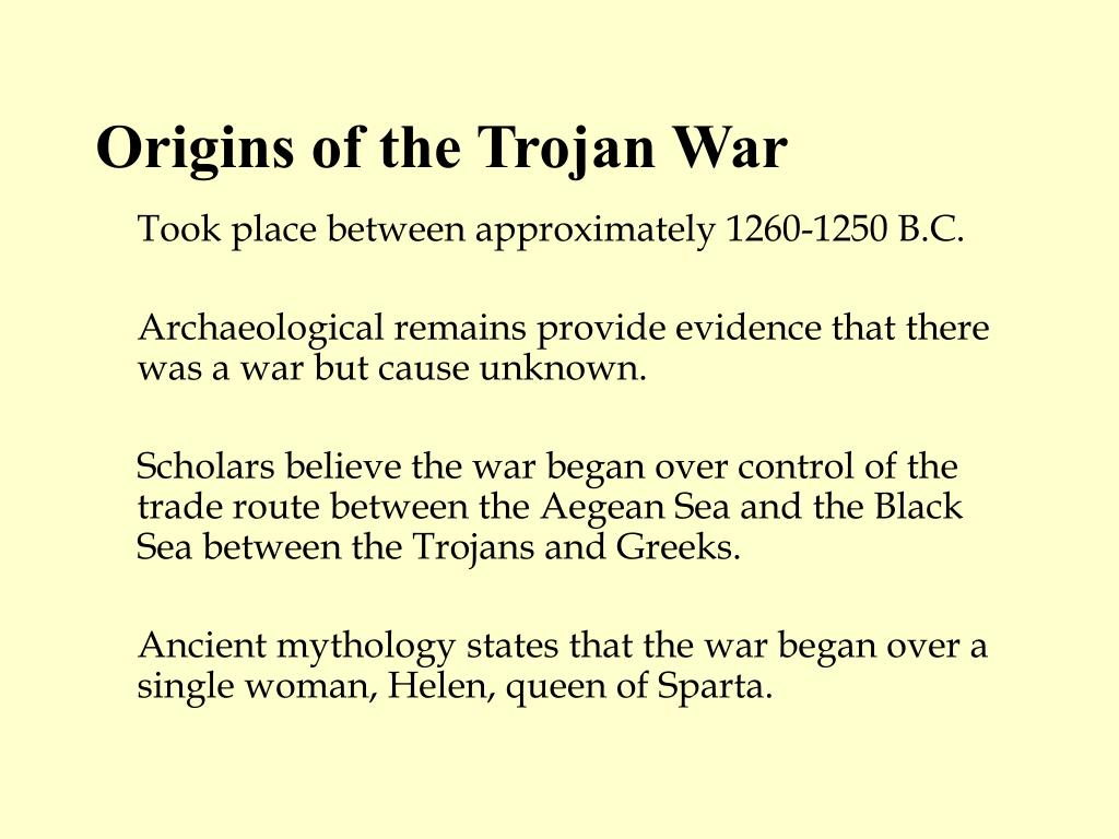 causes of the trojan war essay In addition, some insights into the trojan war may be found: and his telling of it causes dido to fall in love agriculture: trojan war and aeneas essay.