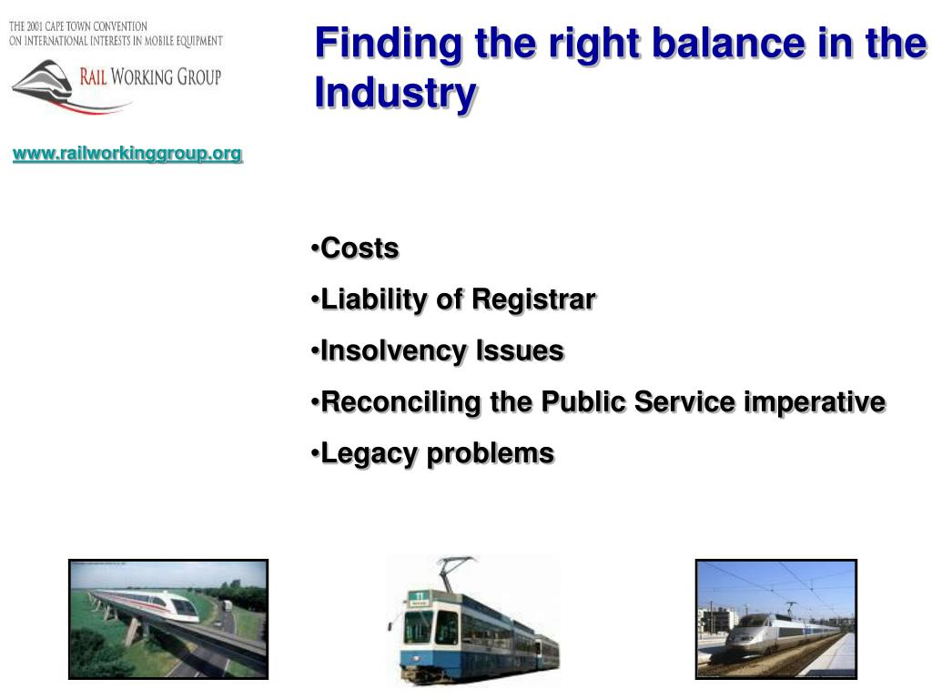 Finding the right balance in the Industry