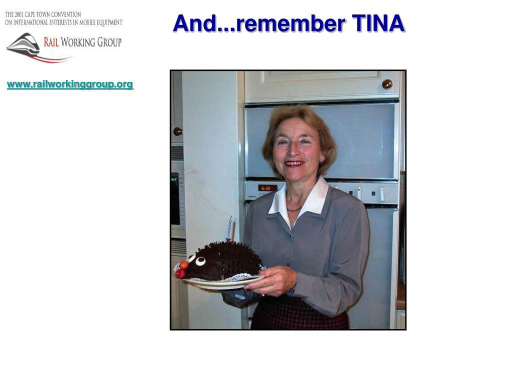 And...remember TINA