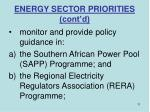 energy sector priorities cont d11
