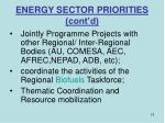 energy sector priorities cont d12