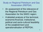 study on regional petroleum and gas association repga