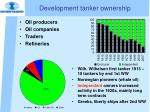 development tanker ownership