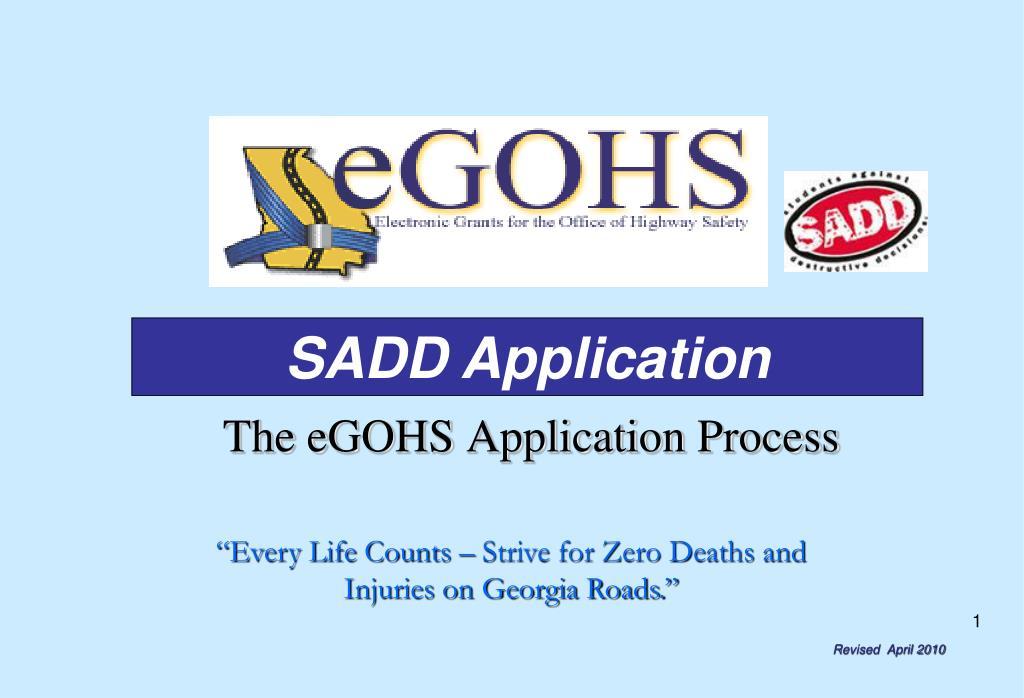 the egohs application process l.