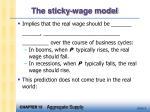 the sticky wage model7