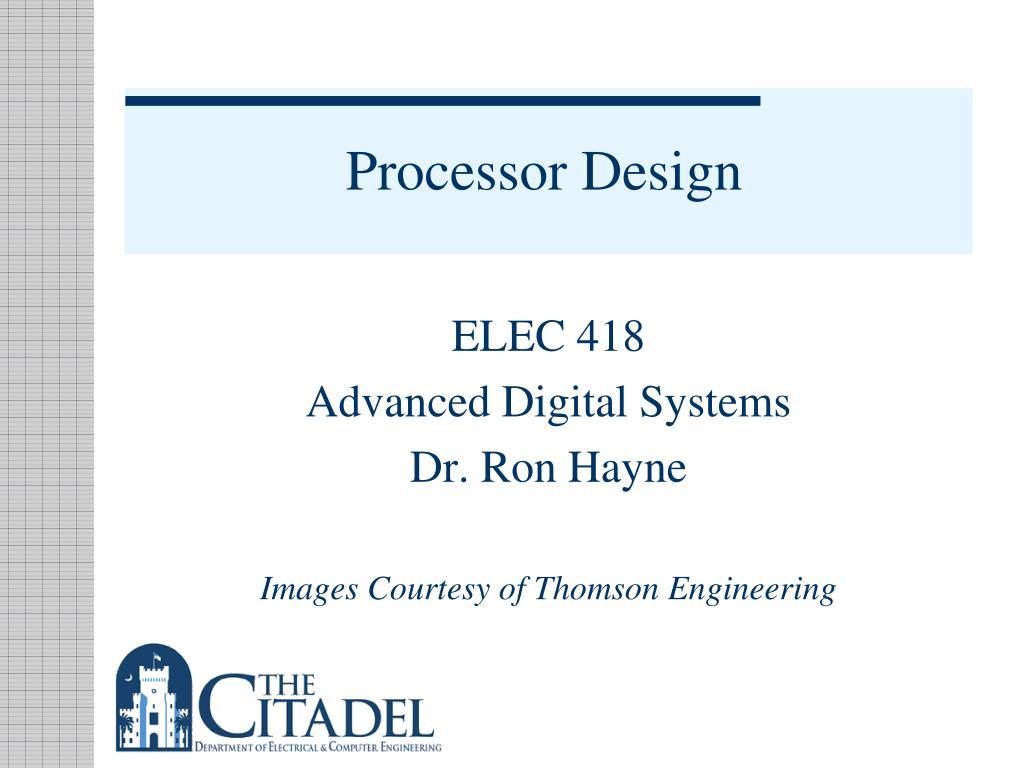 processor design l.