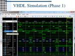 vhdl simulation phase 1