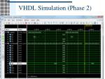 vhdl simulation phase 2