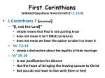 first corinthians solicited questions from corinth 7 1 16 413