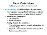 first corinthians solicited questions from corinth 7 1 16 417