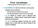 first corinthians solicited questions from corinth 7 1 16 419