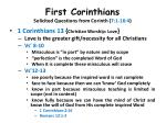 first corinthians solicited questions from corinth 7 1 16 422