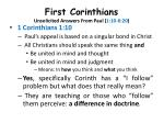 first corinthians unsolicited answers from paul 1 10 6 20