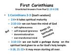 first corinthians unsolicited answers from paul 1 10 6 2010