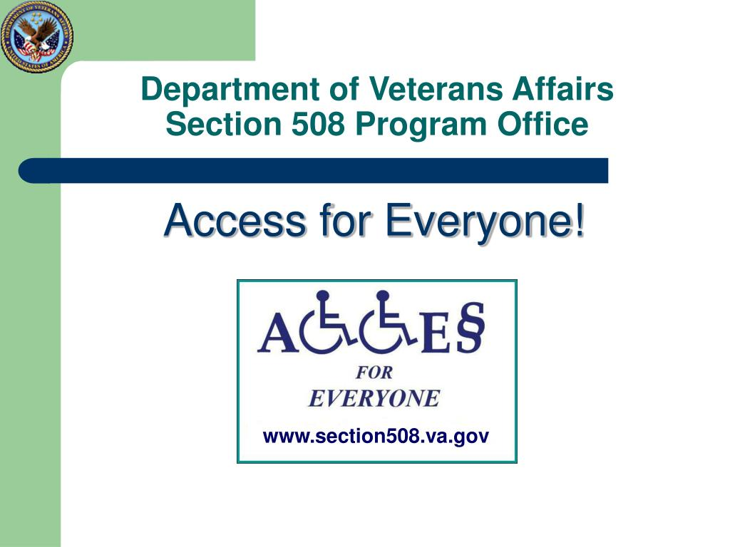 department of veterans affairs section 508 program office l.