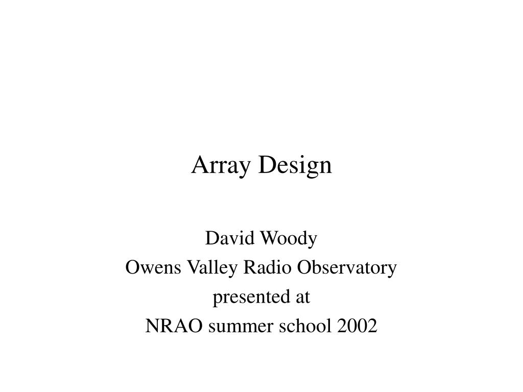 array design l.