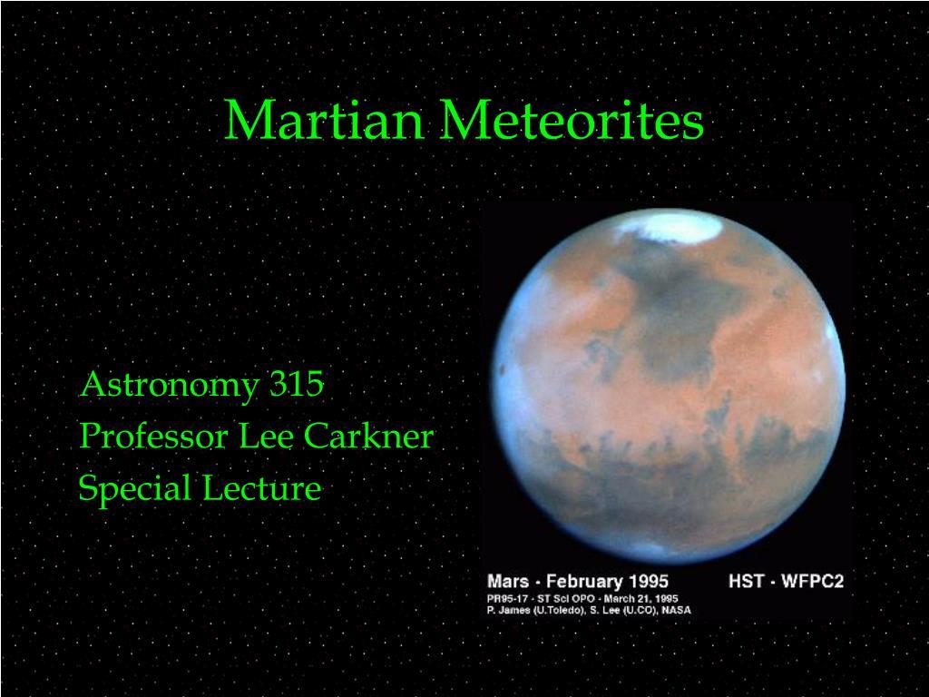 martian meteorites l.