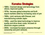 komatsu strategies