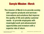 sample mission merck