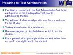 preparing for test administration